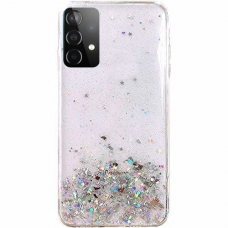Akcija! Samsung Galaxy A72 dėklas Wozinsky Star Glitter skaidrus