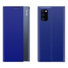 Akcija! xiaomi poco M3/Redmi 9T atverčiamas išmanus dėklas New Sleep Case mėlynas