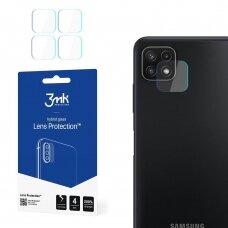 Akcija! Samsung Galaxy A22 5G kameros apsauga 4 vnt. 3MK lens protection