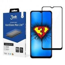Akcija! Samsung Galaxy A02s apsauginis stiklas 3MK HG Max Lite juodais kraštais