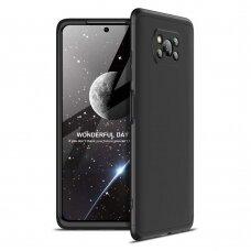 Akcija! Xiaomi Poco X3 NFC dėklas dvipusis 360 plastikas juodas