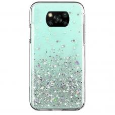 Akcija! xiaomi poco x3 nfc dėklas Wozinsky Star Glitter žalias