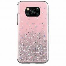 Akcija! xiaomi poco x3 nfc dėklas Wozinsky Star Glitter rožinis