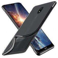 """Akcija! Xiaomi Redmi 8A dėklas """"elegance"""" tpu skaidrus juodais kraštais"""