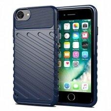 Akcija! iPhone 7 / 8 / se 2020 dėklas Flexible Tough Rugged Cover TPU tamsiai mėlynas