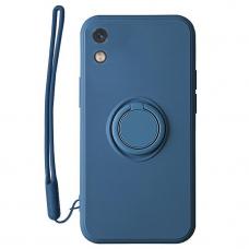 Xiaomi Redmi 9a dėklas su magnetu Finger Ring mėlynas