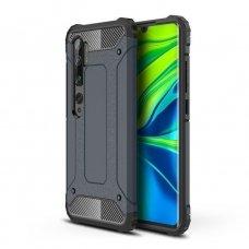 Akcija! xiaomi redmi Mi Note 10 / Mi Note 10 Pro dėklas Hybrid Armor  TPU+PC plastikas mėlynas