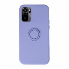 Akcija! Xiaomi Redmi Note 10 / 10s dėklas su magnetu Finger Ring violetinis
