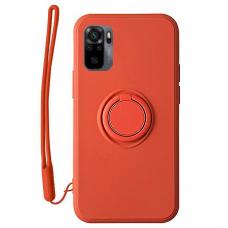 Xiaomi Redmi Note 10 / 10s dėklas su magnetu Finger Ring raudonas