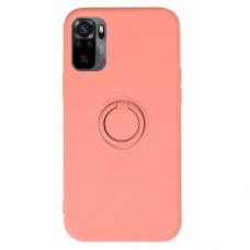 Xiaomi Redmi Note 10 / 10s dėklas su magnetu Finger Ring rožinis