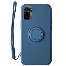 Xiaomi Redmi Note 10 / 10s dėklas su magnetu Finger Ring mėlynas