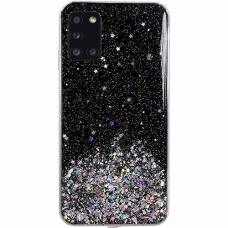 Akcija! Xiaomi Poco M3 / Redmi 9T dėklas Wozinsky Star Glitter juodas