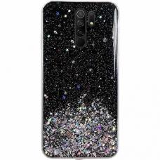 Akcija! Xiaomi Redmi 9 dėklas Wozinsky Star Glitter juodas