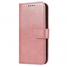 akcija! xiaomi redmi note 9s / note 9 pro atverčiamas dėklas Magnet Case elegant rožinis