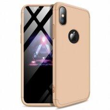 Iphone XS Max GKK 360 apsauginis dėklas. Auksinis