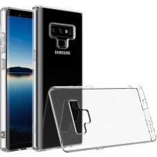 akcija! Samsung galaxy Note 9 DĖKLAS Ultra slim 0,3 mm SILIKONAS SKAIDRUS