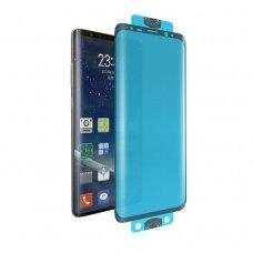 Akcja! Samsung Galaxy S20 Ultra lankstus stiklas 3D Edge Nano Flexi Glass Hybrid juodais kraštais