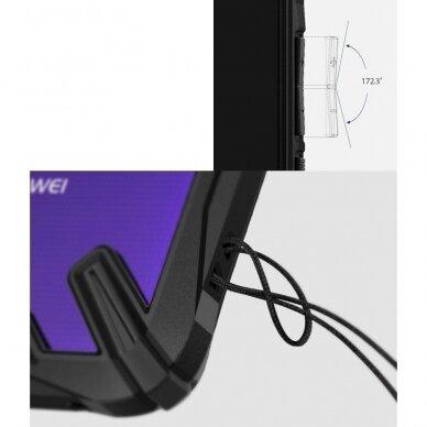 Akcija! Huawei Mate 20 dėklas Ringke Fusion X PC with TPU Bumper skaidrus juodais kraštais 4