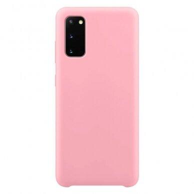 """Akcija! Samsung Galaxy s20 fe dėklas """"Silicone case soft flexible rubber"""" silikonas rožinis"""