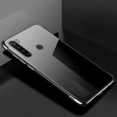 Akcija! Huawei P40 Case TPU Electroplating skaidrus juodais kraštais 3