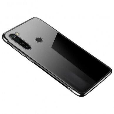 Akcija! Huawei P40 Case TPU Electroplating skaidrus juodais kraštais