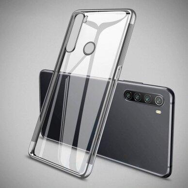 Akcija! Huawei P40 Case TPU Electroplating skaidrus juodais kraštais 2