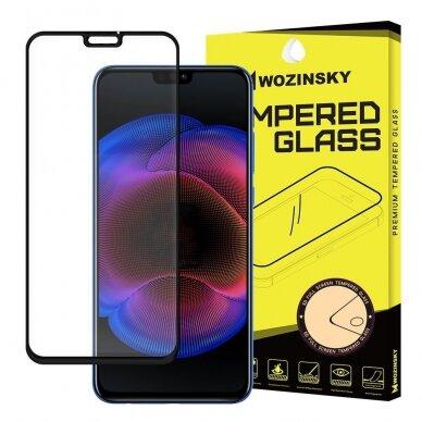 Akcija! Huawei Honor 8x ekrano Apsauginis grūdintas stikliukas Wozinsky Full juodais kraštais