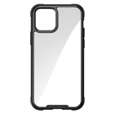 akcija! iphone 12 / 12 pro dėklas Joyroom Frigate juodais kraštais