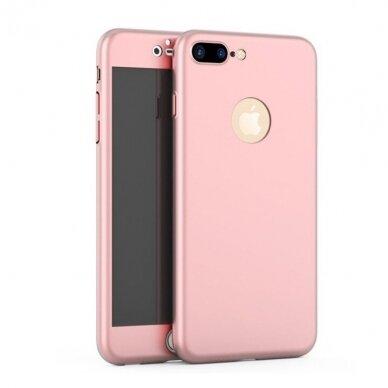 Akcija! iPhone SE 2020/ 7/ 8 dviejų dalių apauginis dėklas GKK 360 rožinis