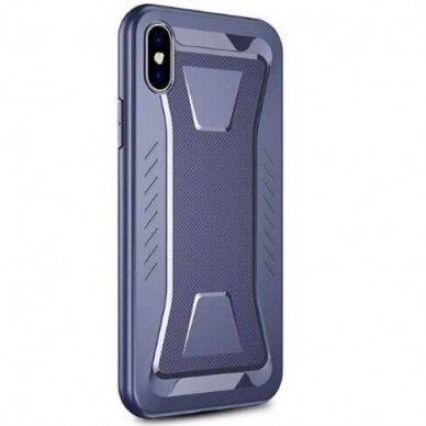 akcija! iphone xs max dėklas ipaky armor tpu tamsiai mėlynas