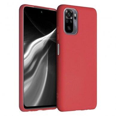 """Akcija! Xiaomi Redmi Note 10 Pro """"Silicone case"""" silikonas raudonas"""