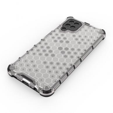 Akcija! Samsung Galaxy A52 dėklas Honeycomb armor TPU Bumper mėlynas-permatomas  3