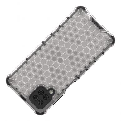 Akcija! Samsung Galaxy A52 dėklas Honeycomb armor TPU Bumper mėlynas-permatomas  5