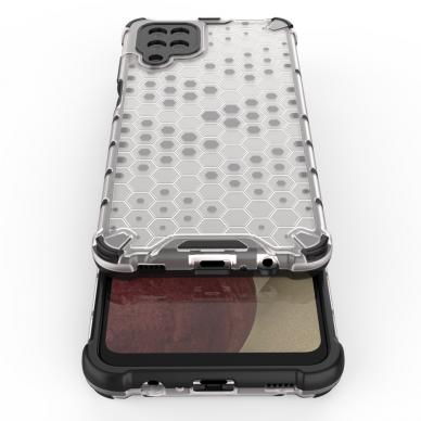 Akcija! Samsung Galaxy A52 dėklas Honeycomb armor TPU Bumper mėlynas-permatomas  7