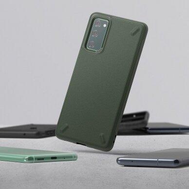 Akcija! Samsung Galaxys s20fe nugarėlė Ringke Onyx Durable TPU tamsiai žalia 3