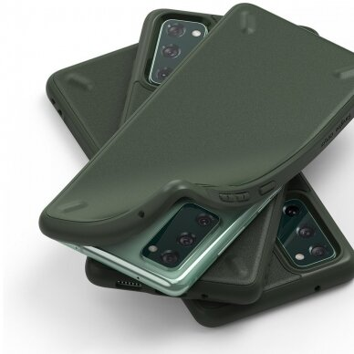 Akcija! Samsung Galaxys s20fe nugarėlė Ringke Onyx Durable TPU tamsiai žalia 2
