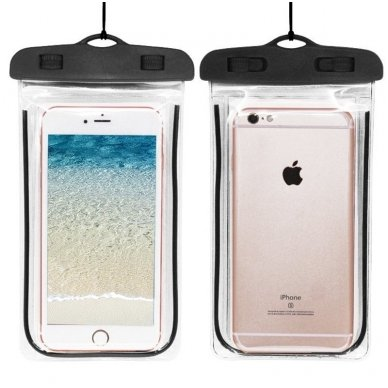 Atsparus vandeniui universalus telefono dėklas (įvairių dydžių) 2