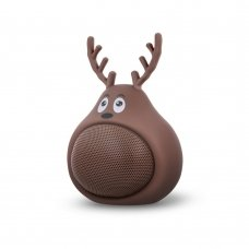 Bluetooth nešiojamas garsiakalbis Forever Sweet Animal Deer Frosty ABS-100 rudas