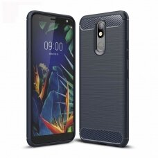 Akcija! LG K40 X420 Dėklas Carbon Case TPU Mėlynas