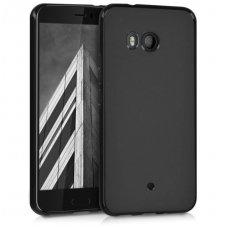 HTC U11 dėklas MATT SILIKONINIS juodas matinis