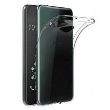 HTC U11 dėklas Skaidrus 0,3 mm SILIKONINIS ultra slim