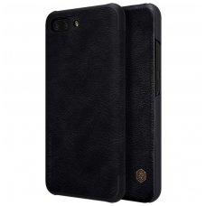 Huawei Honor 10 atverčiamas dėklas Nillkin Qin tikros odos juodas