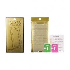 Huawei Honor 10 grūdinto stiklo ekrano apsauga Temperad Glass GOLD 9H iki išlenkimo