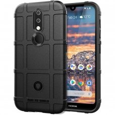Nokia 4.2 Dėklas Rugged Shield tpu juodas
