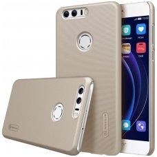 Huawei honor 8 dėklas nillkin frosted Pc plastikas + ekrano plėvelė auksinis