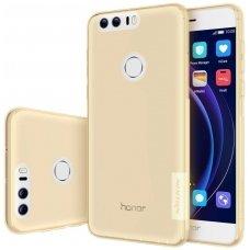 Huawei honor 8 DĖKLAS NILLKIN NATURE 0.6MM TPU permatomas auksinis