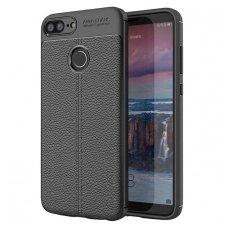 Huawei Honor 9 lite dėklas Litchi Pattern TPU juodas