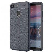 Huawei Honor 9 lite dėklas Litchi Pattern TPU tamsiai mėlynas