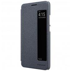Huawei MATE 10 pro Atverčiamas dėklas Nillkin Sparkle PC plastikas ir PU oda tamsiai pilkas