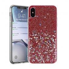 Iphone xs max dėklas Vennus Briliant TPU raudonas